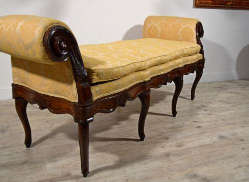 Antiquités - 18th Century, Italian Walnut Wood Bench