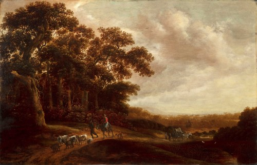 17th Century, Landscape With Pastoral Scene By Pieter Jansz Van Asch - Paintings & Drawings Style
