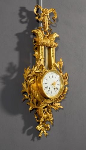 Horology  - 19th Century, French Gilt Bronze Cartel Clock