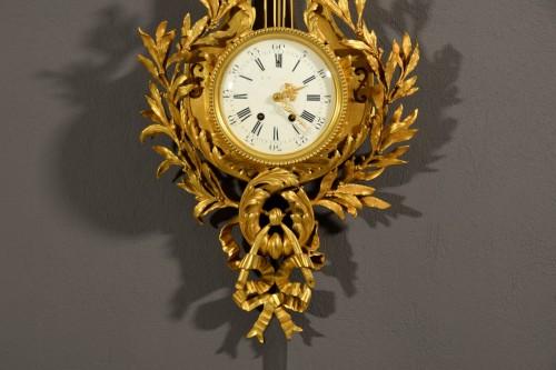 19th century - 19th Century, French Gilt Bronze Cartel Clock