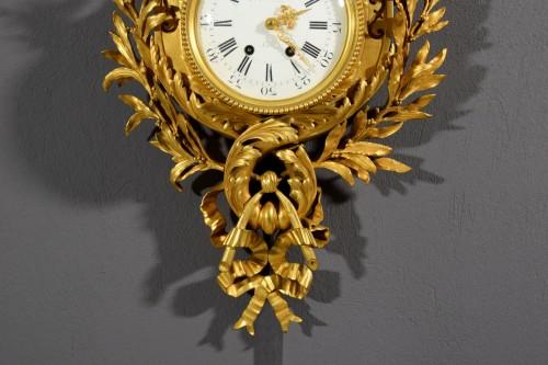 - 19th Century, French Gilt Bronze Cartel Clock