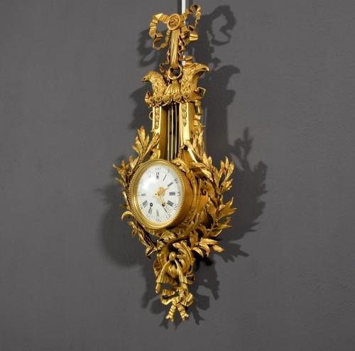 Antiquités - 19th Century, French Gilt Bronze Cartel Clock