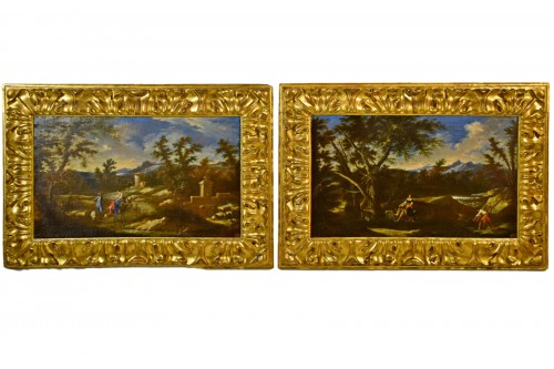 Peruzzini Antonio Francesco (1643-1724), Pair Of Scenes Of Rural Life