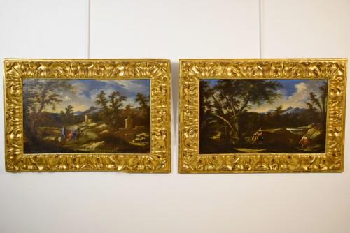 Peruzzini Antonio Francesco (1643-1724), Pair Of Scenes Of Rural Life - Paintings & Drawings Style