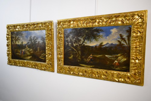 Paintings & Drawings  - Peruzzini Antonio Francesco (1643-1724), Pair Of Scenes Of Rural Life