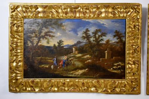 Peruzzini Antonio Francesco (1643-1724), Pair Of Scenes Of Rural Life -
