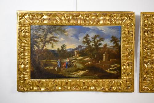 17th century - Peruzzini Antonio Francesco (1643-1724), Pair Of Scenes Of Rural Life