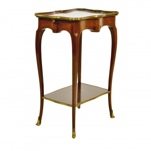 19th Century, French Mahogany Coffee Table By Escalier De Cristal