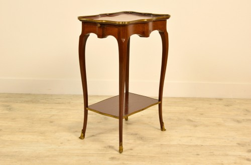 Furniture  - 19th Century, French Mahogany Coffee Table By Escalier De Cristal