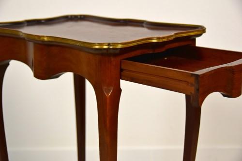 - 19th Century, French Mahogany Coffee Table By Escalier De Cristal
