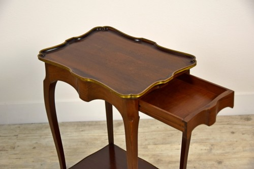 Antiquités - 19th Century, French Mahogany Coffee Table By Escalier De Cristal