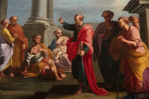 Antiquités - Architectural capriccio with the preaching of Saint Paul - Alberto Carlieri (1672-1720)