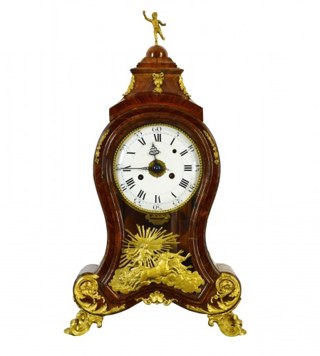 18th Century, Italian Wood and bronze Ringtone And Alarm Table Clock