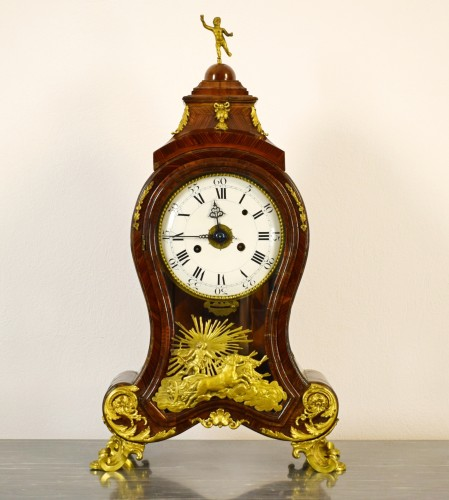 18th Century, Italian Wood and bronze Ringtone And Alarm Table Clock  - Horology Style Louis XV