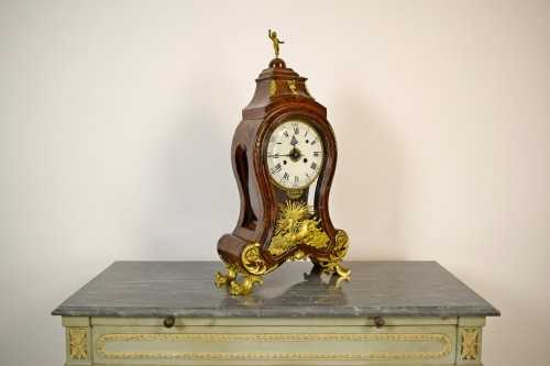 Horology  - 18th Century, Italian Wood and bronze Ringtone And Alarm Table Clock