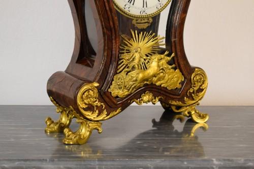 18th Century, Italian Wood and bronze Ringtone And Alarm Table Clock  - Louis XV