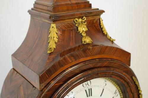 Louis XV - 18th Century, Italian Wood and bronze Ringtone And Alarm Table Clock