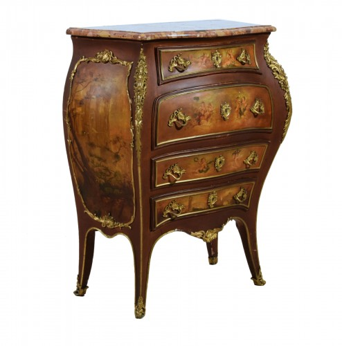 Late 19th Century, French Lacquered Wood Chest Of Drawers