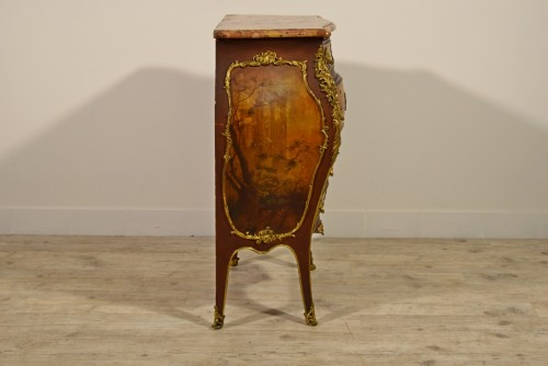 Late 19th Century, French Lacquered Wood Chest Of Drawers -