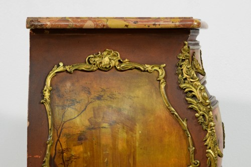 - Late 19th Century, French Lacquered Wood Chest Of Drawers