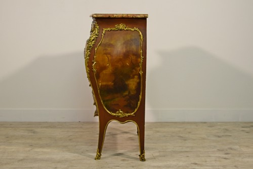 Antiquités - Late 19th Century, French Lacquered Wood Chest Of Drawers