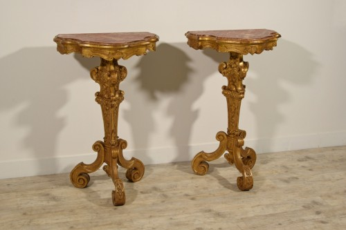 19th Century Pail Of Italian Giltwood Gueridon - Furniture Style