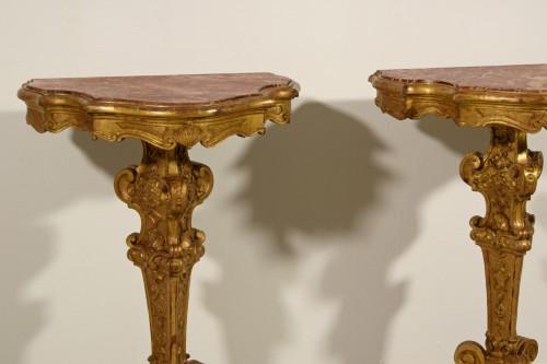 19th century - 19th Century Pail Of Italian Giltwood Gueridon