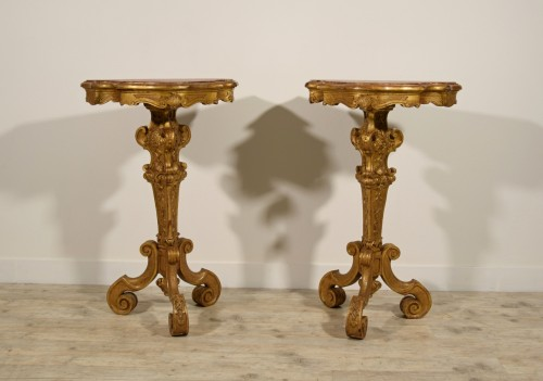 Antiquités - 19th Century Pail Of Italian Giltwood Gueridon