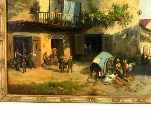 Market At Giavenp  -  Carlo Piacenza (1814-1887) -