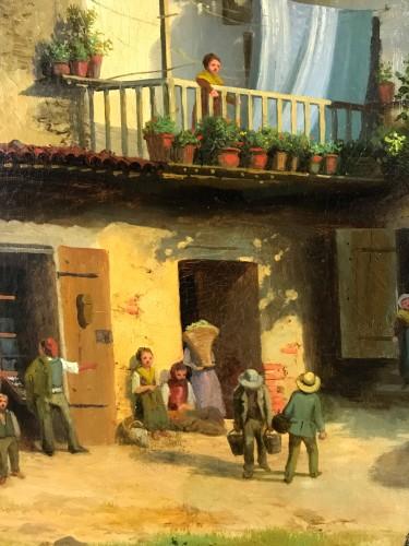 19th century - Market At Giavenp  -  Carlo Piacenza (1814-1887)