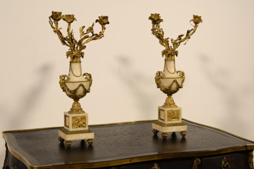 19th Century, Pair Of French Candelabra - Lighting Style