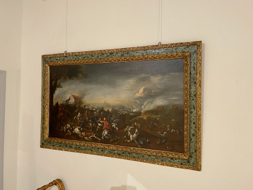 Battle between Turks and Christians - Italian school of the 17th century - Paintings & Drawings Style Louis XIV