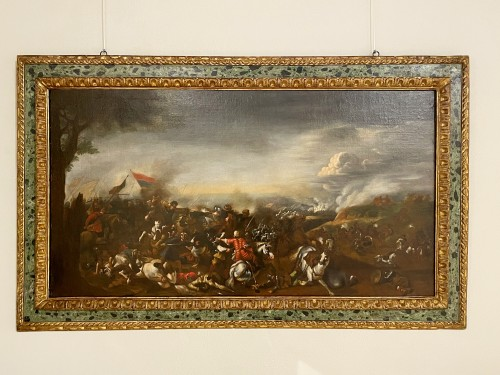 Battle between Turks and Christians - Italian school of the 17th century -