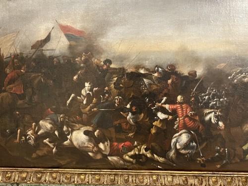 17th century - Battle between Turks and Christians - Italian school of the 17th century