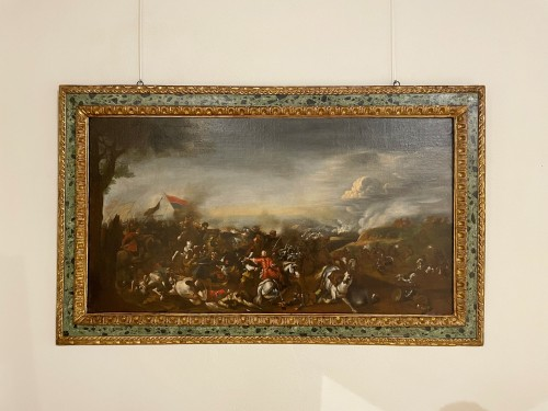 Battle between Turks and Christians - Italian school of the 17th century - Louis XIV