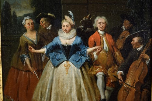 18th century - 18th century, Banquet and Dance scene by Jan Baptist Lambrechts