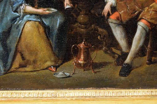 18th century, Banquet and Dance scene by Jan Baptist Lambrechts -