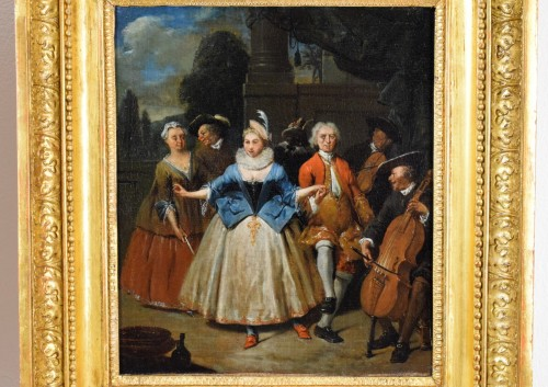 - 18th century, Banquet and Dance scene by Jan Baptist Lambrechts