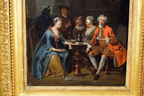 Antiquités - 18th century, Banquet and Dance scene by Jan Baptist Lambrechts