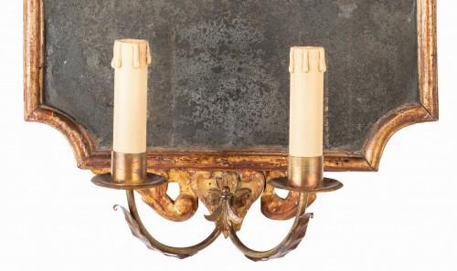 18th century Pair of Italian Neoclassical Giltwood Mirrors  -