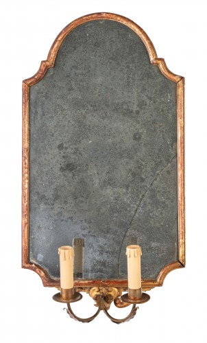 18th century - 18th century Pair of Italian Neoclassical Giltwood Mirrors