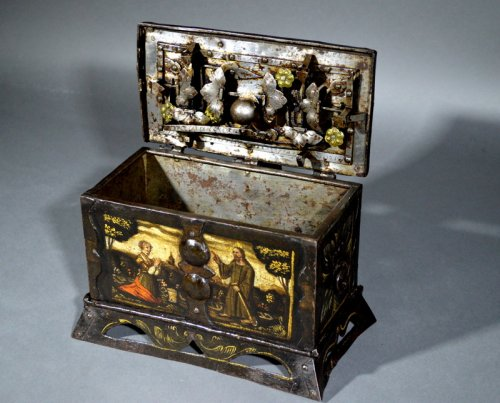 "Small nürnberg casket with scene of ""noli mi tangere"".  renaissance era. - Objects of Vertu Style Renaissance"