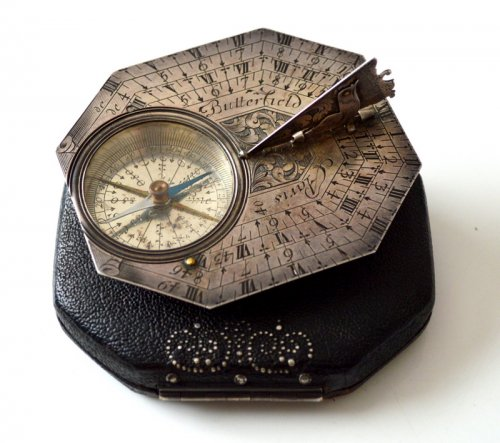 Collectibles  - A sundial-compass by michael butterfield.  late 17th century.