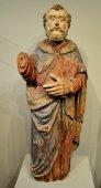 Statue of saint peter.  polychrome wood.  16th century.