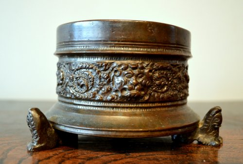 Important bronze inkwell of Renaissance period