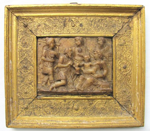 """Malines alabaster depicting the """"Adoration of the Three Wise Men"""""""