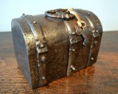 Small wrought iron casket with secret.  France.  16th century.