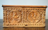 A casket in beechwood.   Germany.  15th century.
