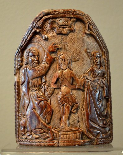 "A walrus ivory ""Pax"".  15th century."