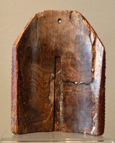 "A walrus ivory ""Pax"".  15th century.   -"